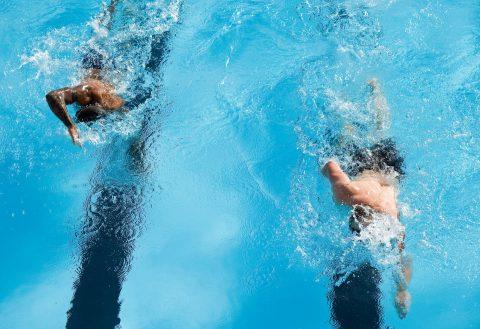 Nadadores piscina olímpica