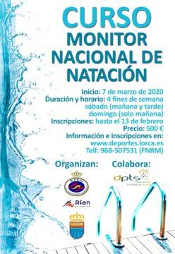 Cartel Curso Monitor Nacional de Natación